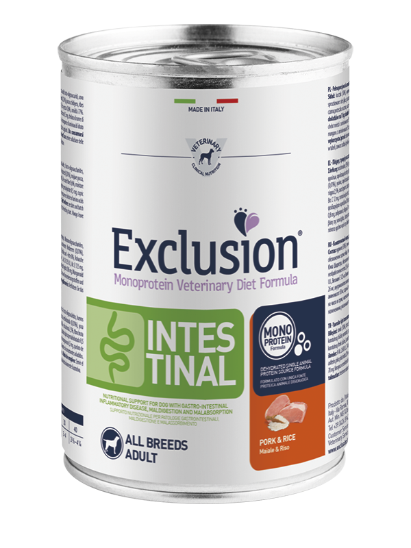 EXCLUSION INTESTINAL Maiale e riso  ALL BREEDS Adult   200gr