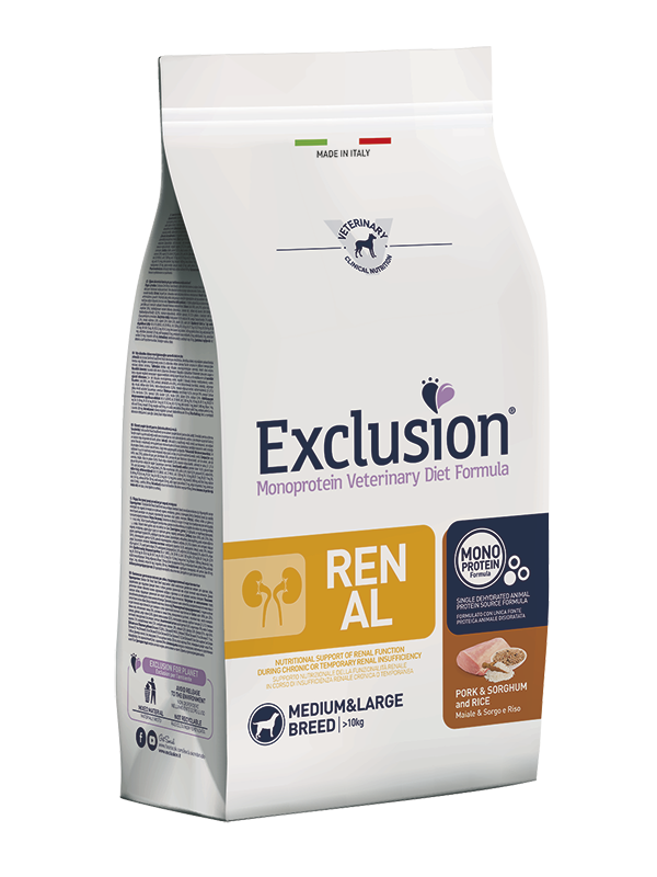 EXCLUSION RENAL MAIALE & SORGO E RISO MEDIUM&LARGE BREED 2kg