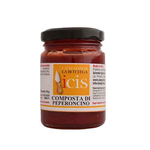 Composta per formaggi di peperoncino