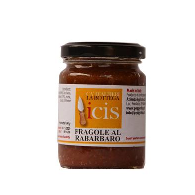 Composta per formaggi fragole al rabarbaro