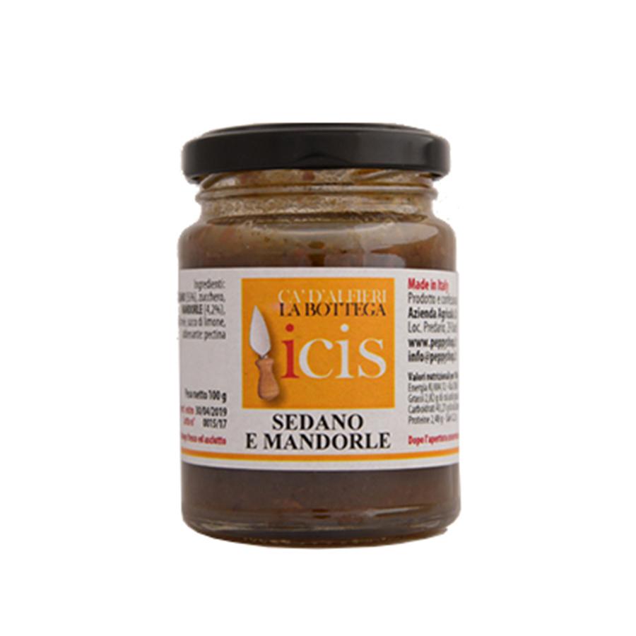 Composta per formaggi sedano e mandorle