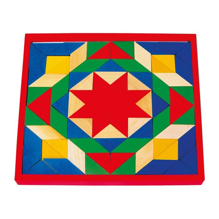 Mosaico geometrico grande legno