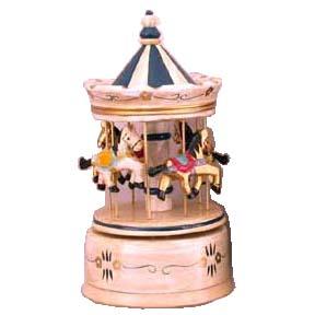 Carillon 4 cavalli tetto lilla