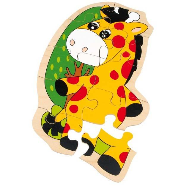 Puzzle legno giraffa10pz