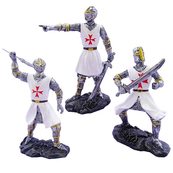 Cavalieri templari medievali giubba bianca h13