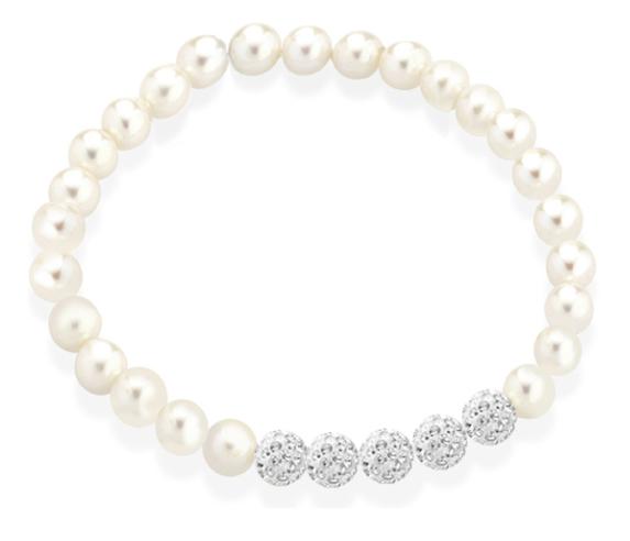 TRAMONTANO - Bracciale Perle vere ELASTICO