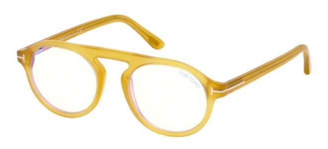 Tom Ford - Occhiale da Vista Unisex, Transparent Light Yellow FT 5534-B  BLUE BLOCK  039  C49