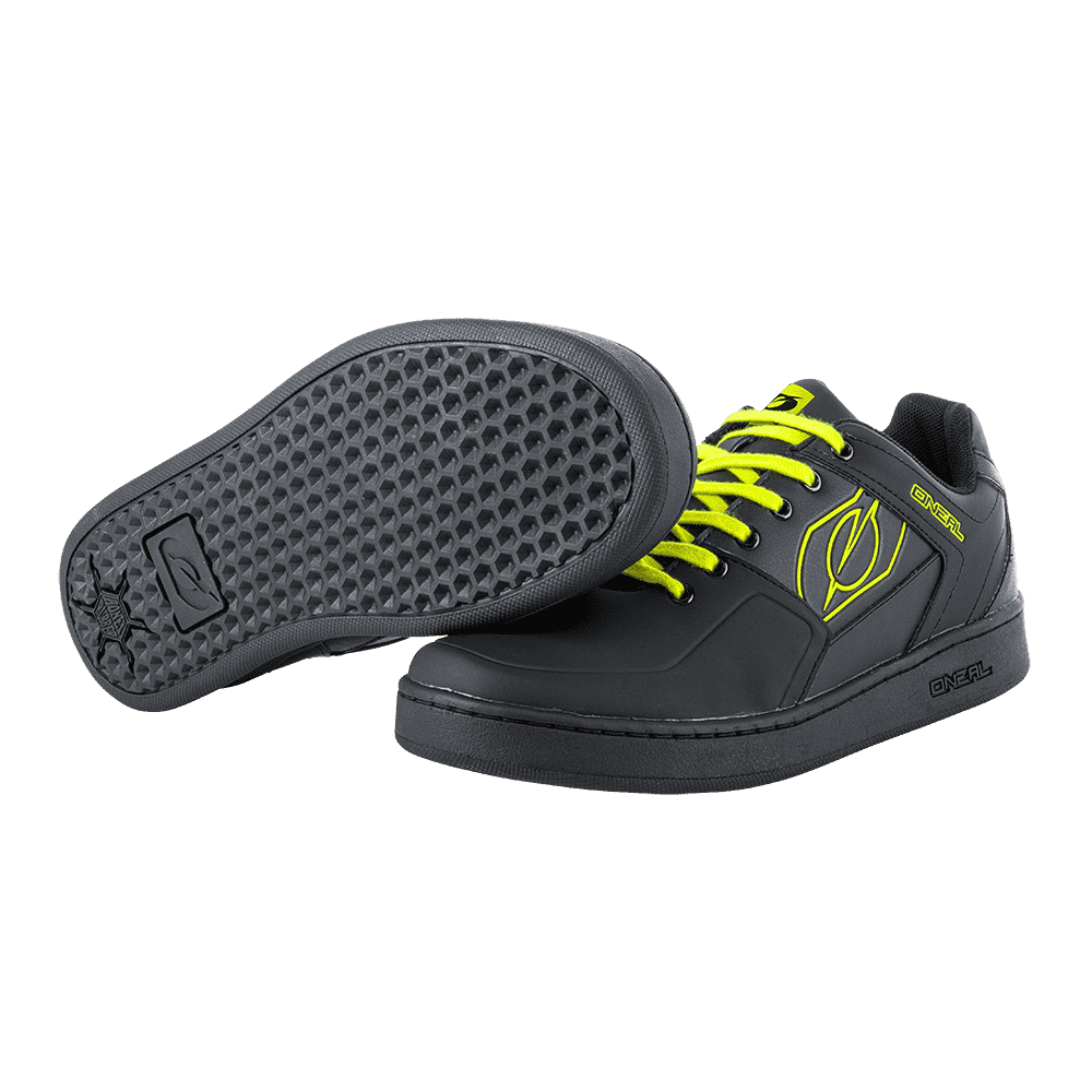 ONEAL PINNED FLAT PEDAL SHOE BLACK YELLOW