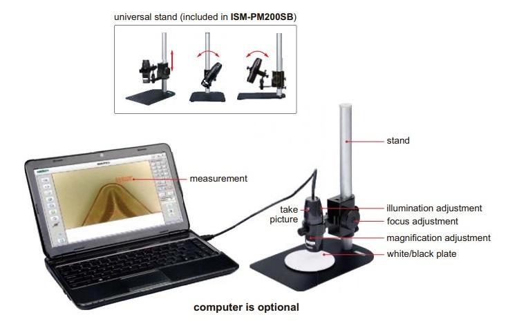 Microscopio digitale di misura ISM-PM200SB