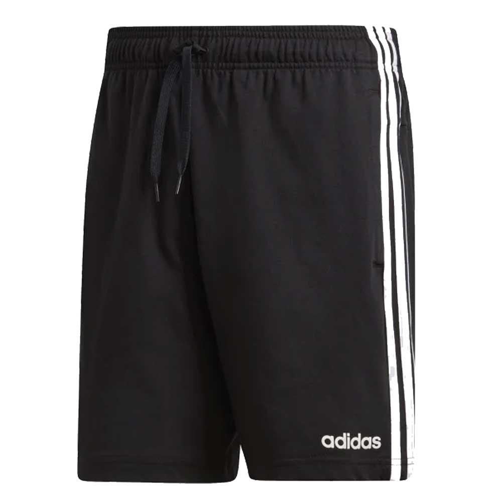 Adidas Bermuda in Cotone Classic Three Stripes Black da Uomo