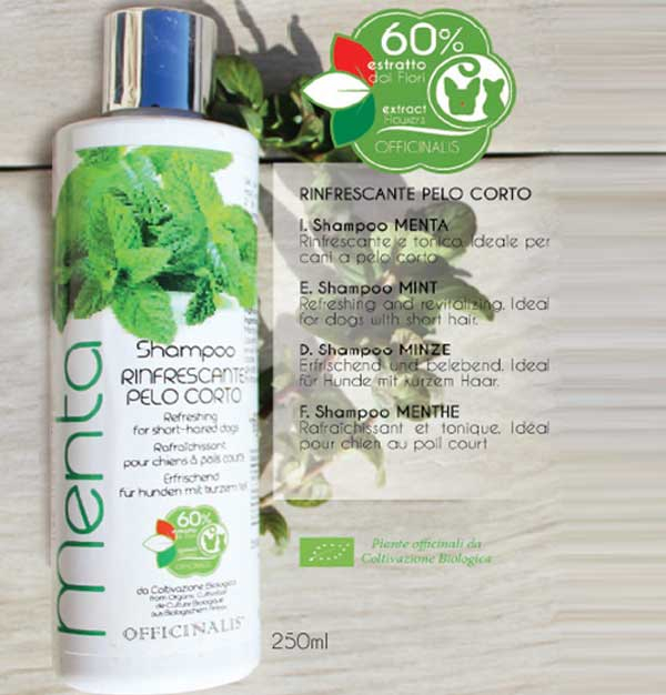 Officinalis Shampoo per cani e gatti  alla MENTA rinfrescante 250ml