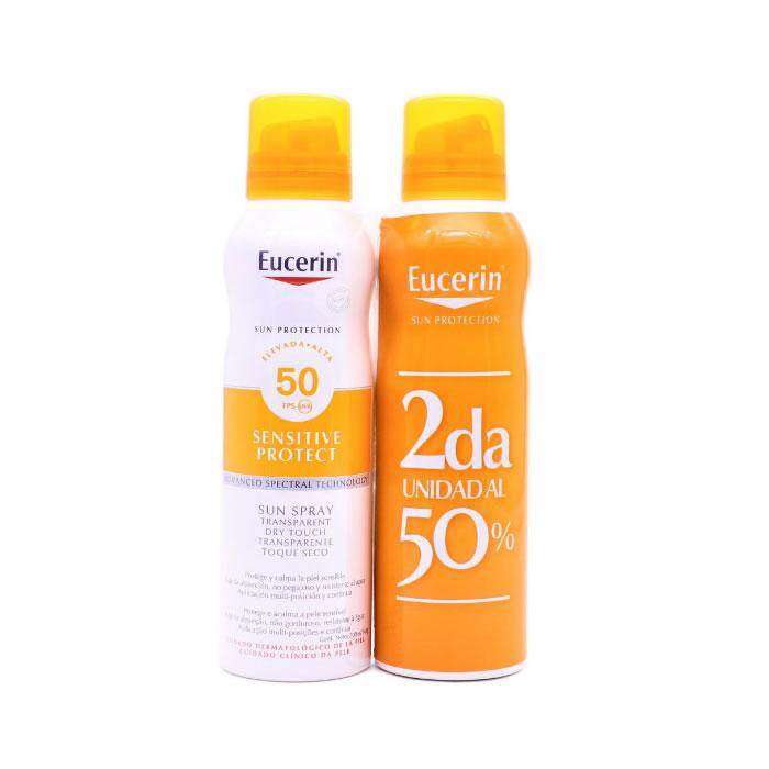Eucerin Sun Spray Transparente Dry Touch Spf50 2x200m