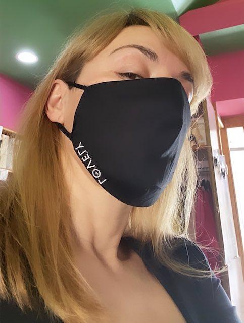 Mascherine viso  Lovely in cotone con tasca interna per filtro