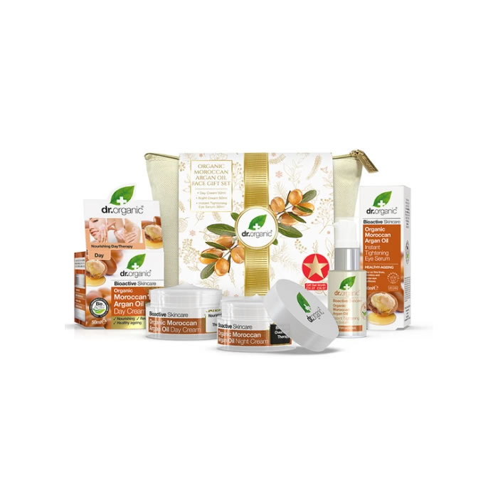 Dr. Organic Moroccan Argan Oil Face Gift Set 2020