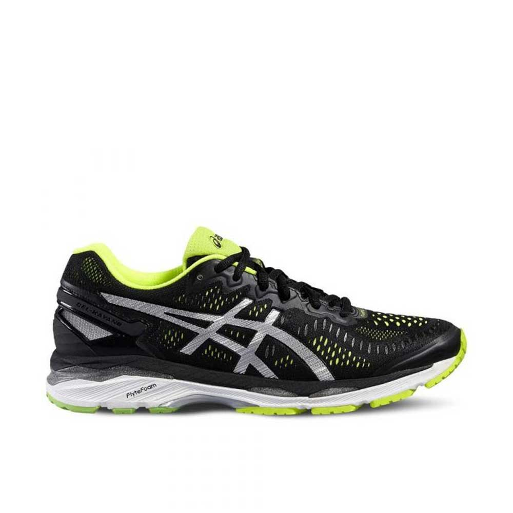 Asics Gel Kayano 23 Black Silver Yellow da Uomo