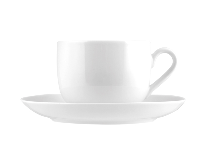 Tazza the in porcellana Oslo bianco