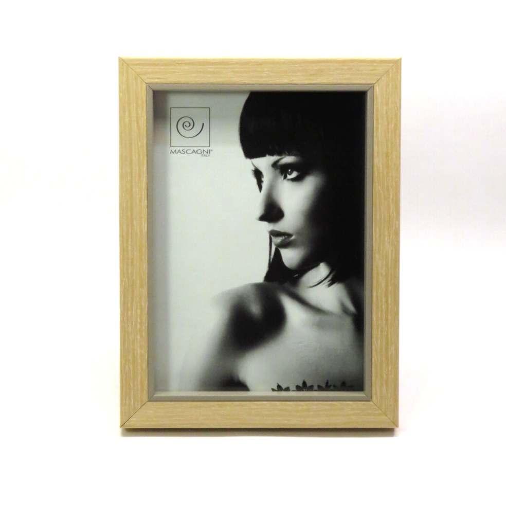 Porta foto in legno con bordo interno tortora 13x18