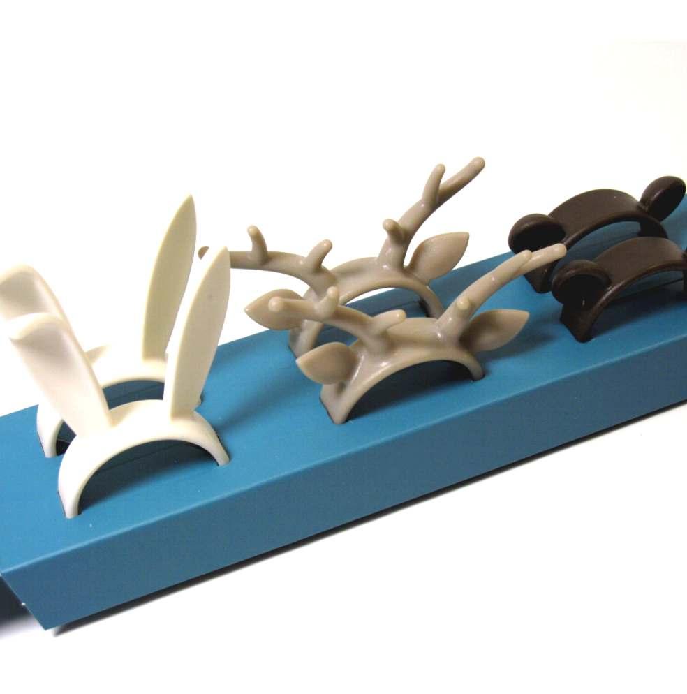 Allacciatovaglioli in plastica zoo 6 pezzi