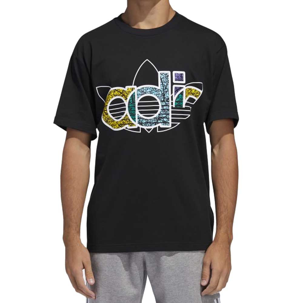 Adidas T Shirt Black Multicolor da Uomo