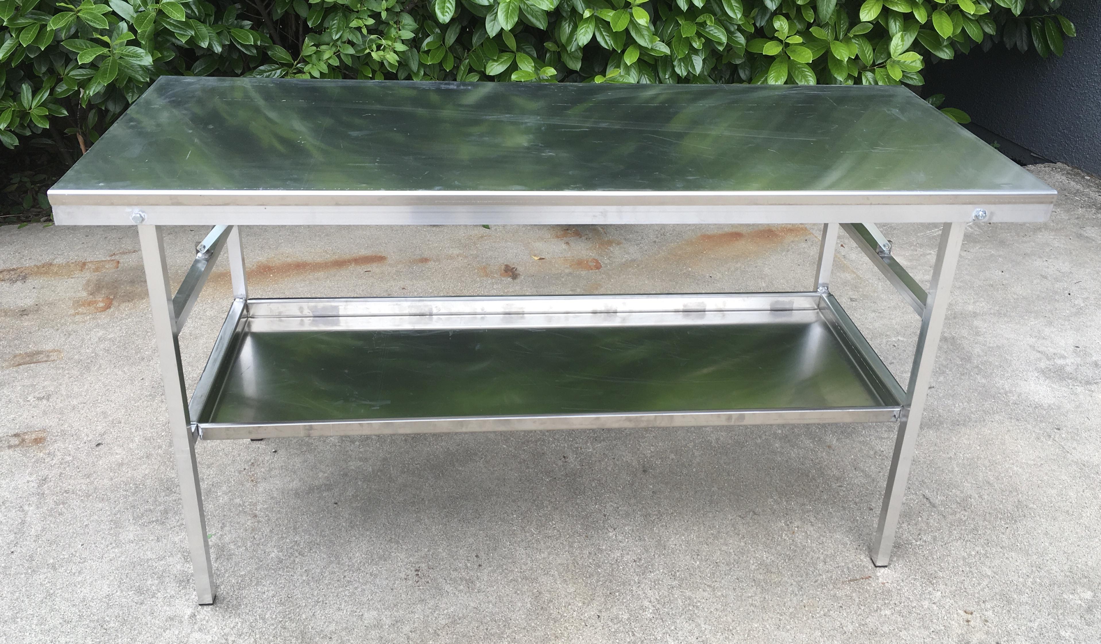 Tavolo da lavoro in alluminio