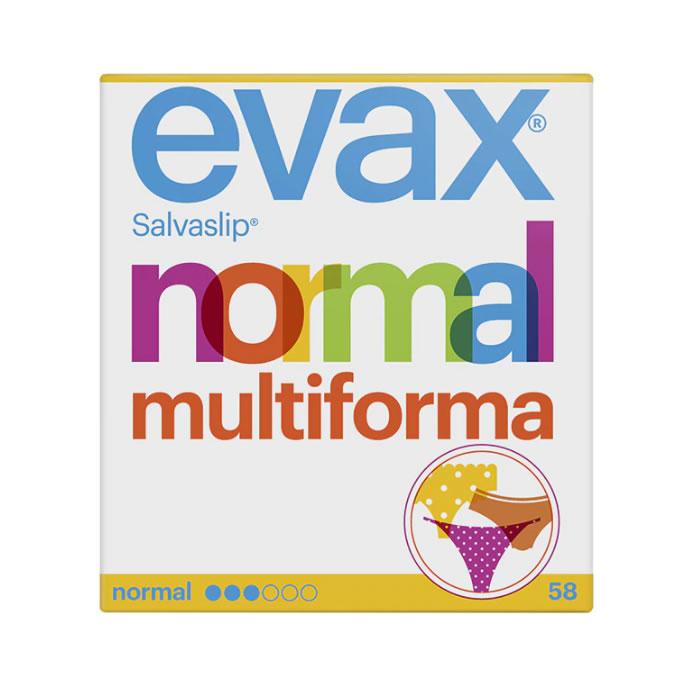 Evax Salvaslip Normal Multiform Protegeslips 58 Units