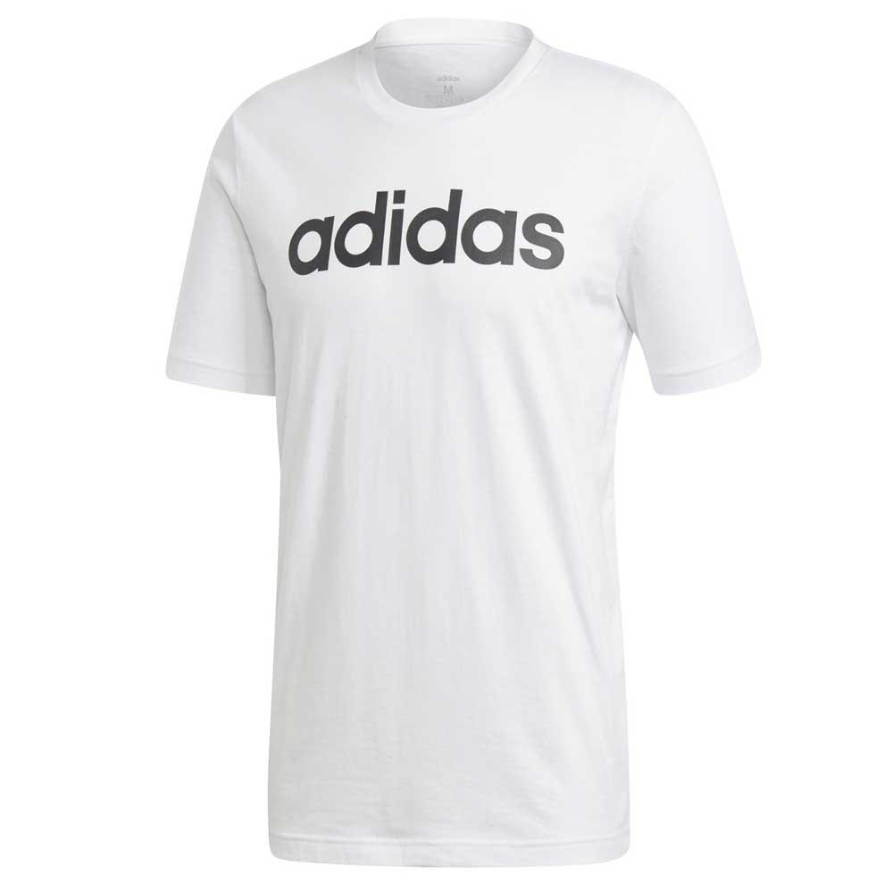 Adidas T Shirt Basic Scritta White da Uomo
