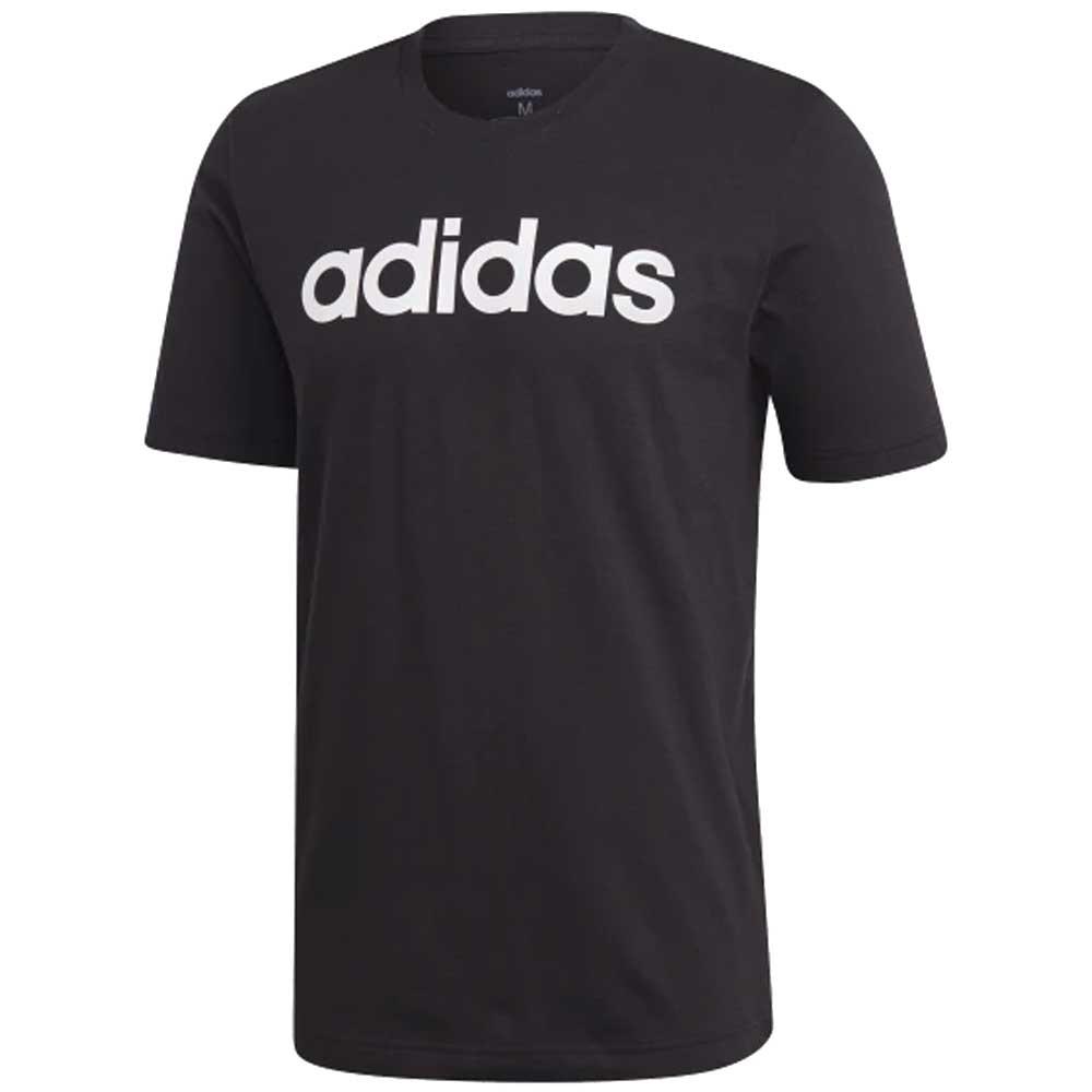 Adidas T Shirt Basic Scritta Black da Uomo