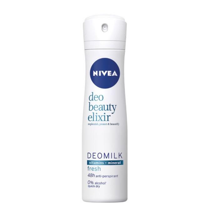 Nivea Milk Beauty Elixir Fresh Deodorant Spray 150ml