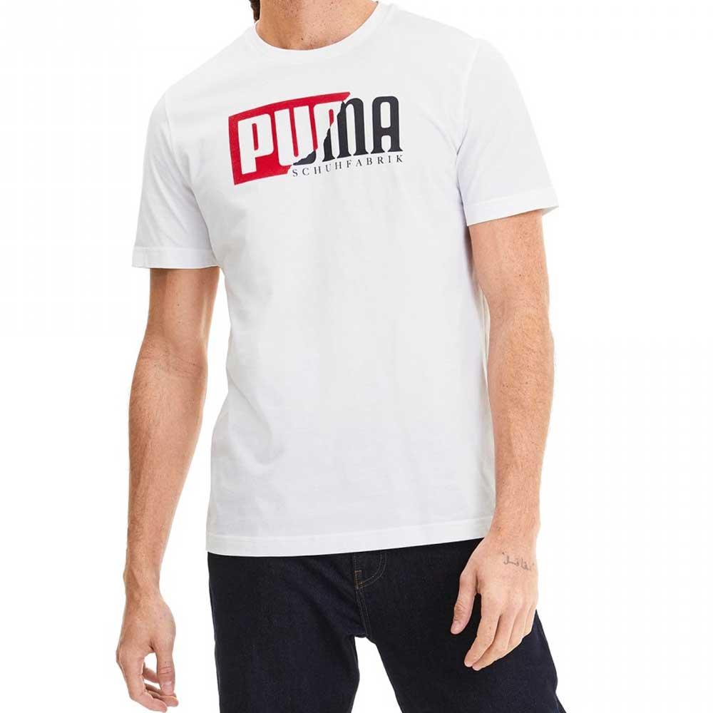 Puma T Shirt Logo White da Uomo