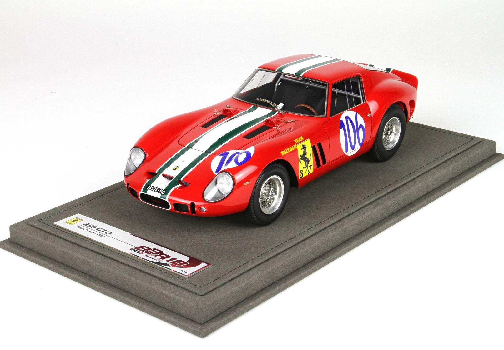Ferrari 250 GTO Targa Florio 1963 With Case 1/18