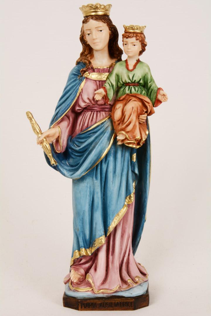 Statua Madonna Ausiliatrice h 20 PASQ347
