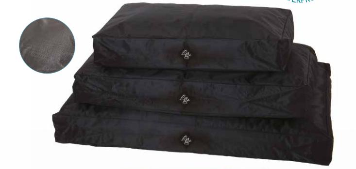 Cuscinone per cani Leopet BRICK Nero  SFODERABILE waterproof 60x100x15 h cm