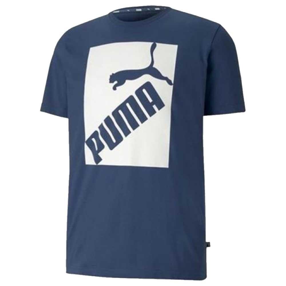 Puma T Shirt Logo Stampa Blue da Uomo