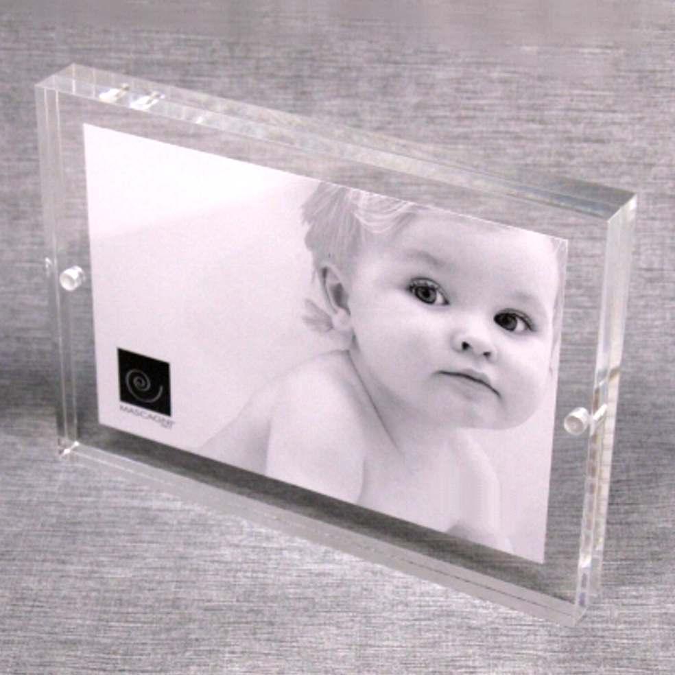 Cornice portafoto magnetica trasparente 13x18
