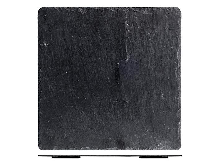 Piatto ardesia nera cm30x30