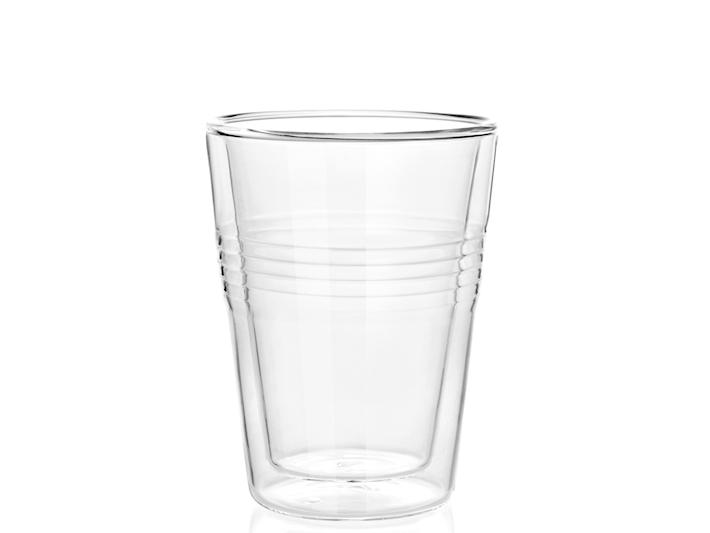 2 bicchieri in vetro pyrex termico