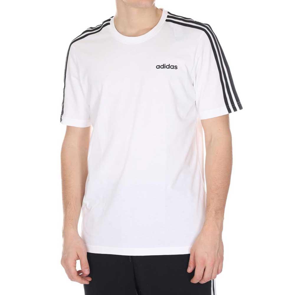 Adidas T Shirt 3 Stripes White da Uomo