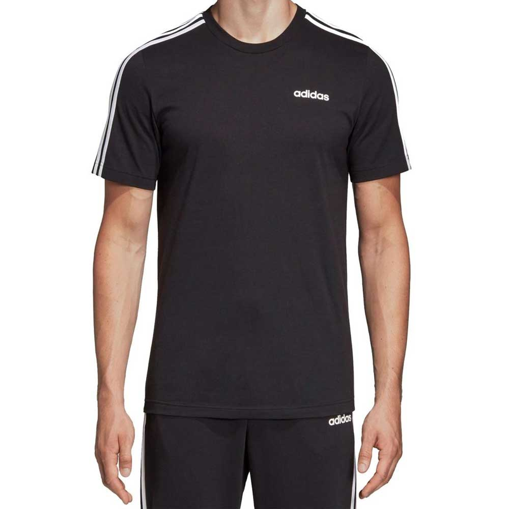 Adidas T Shirt 3 Stripes Black da Uomo