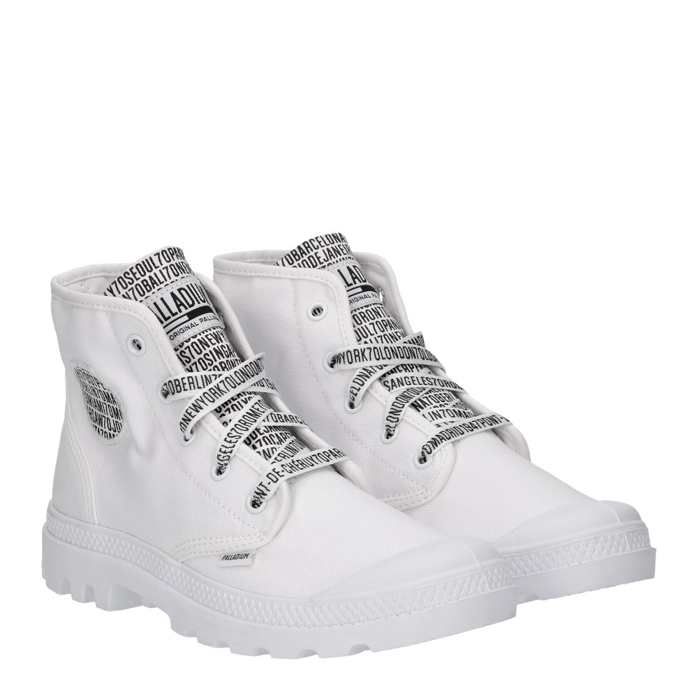 Palladium 70th Pampa Hi Canvas White