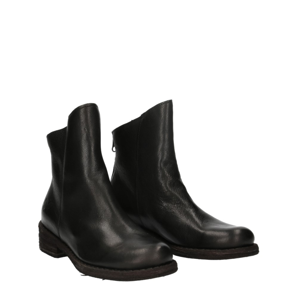 Felmini Targoff Preto+Zip Black Leather