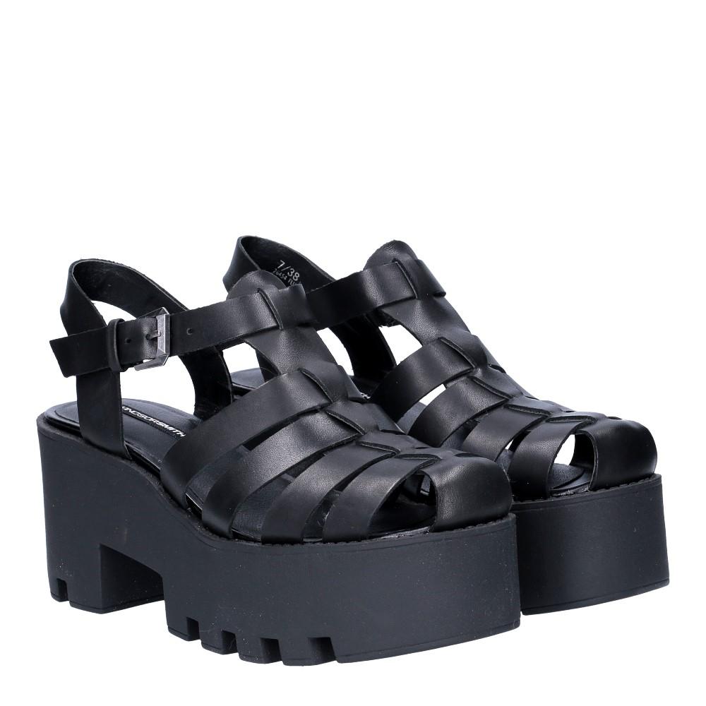Windsor smith fluffy black leather