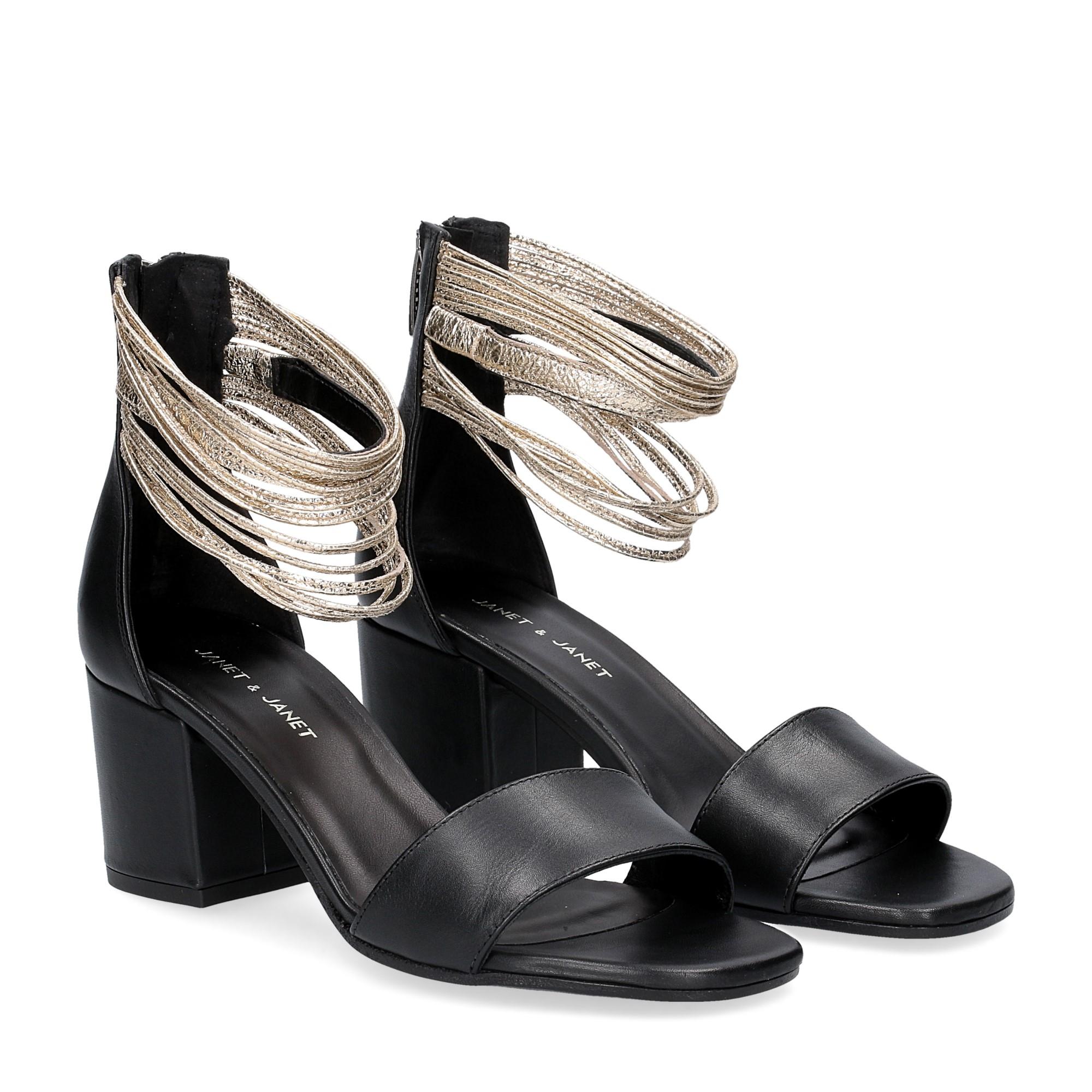 Janet & Janet sandalo nero platino