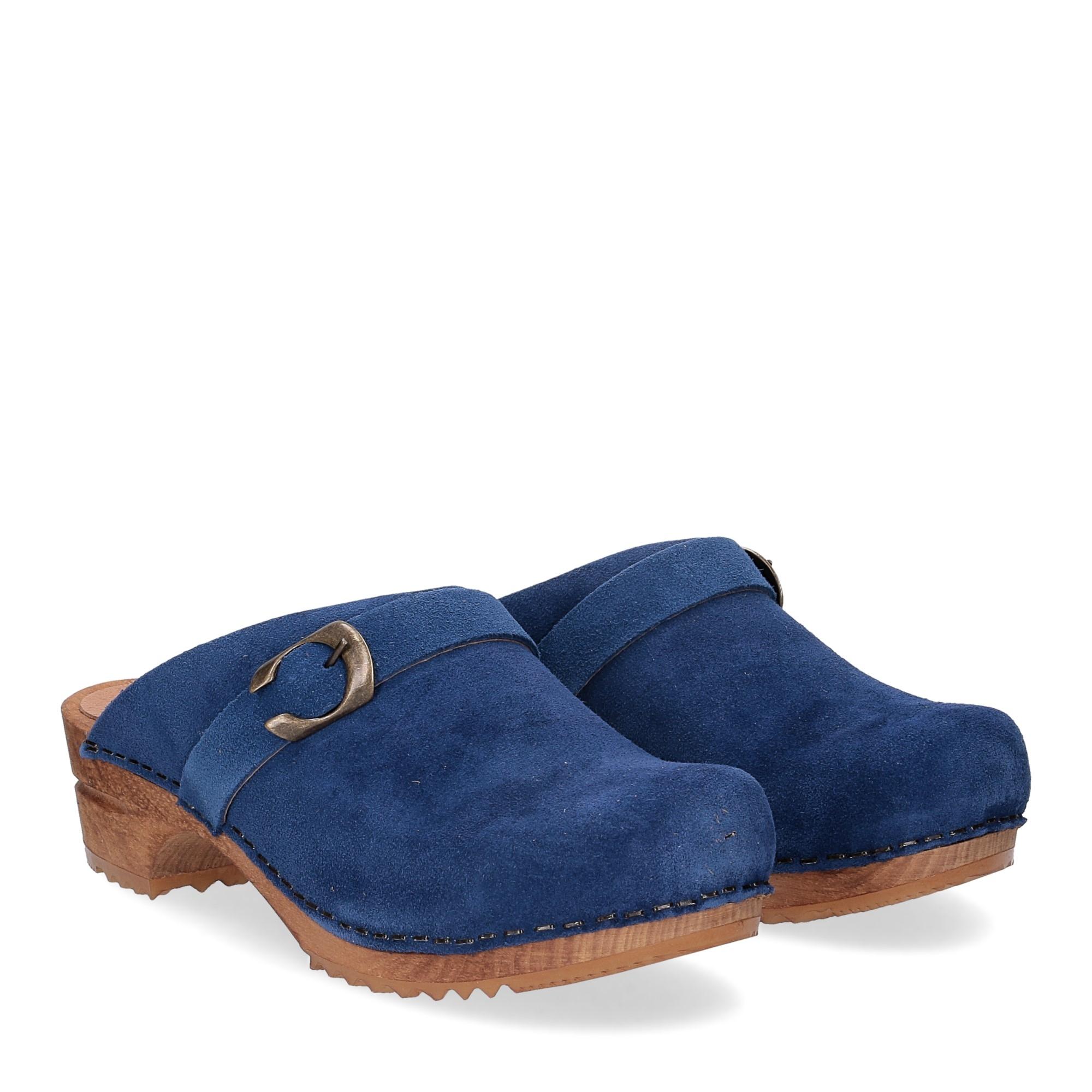 Sanita Zoccolo in camoscio blu jeans