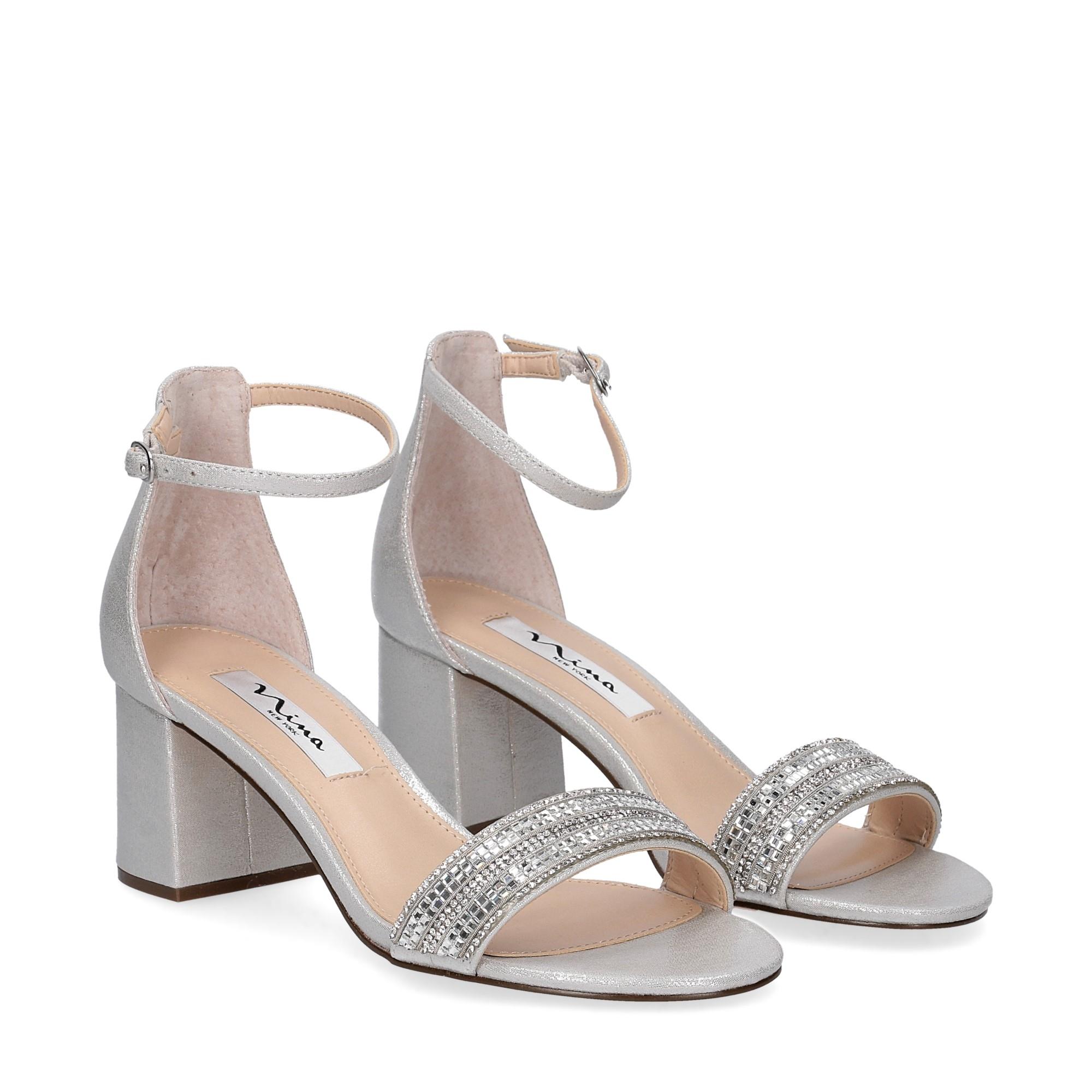 Nina new york sandalo eleonora silver