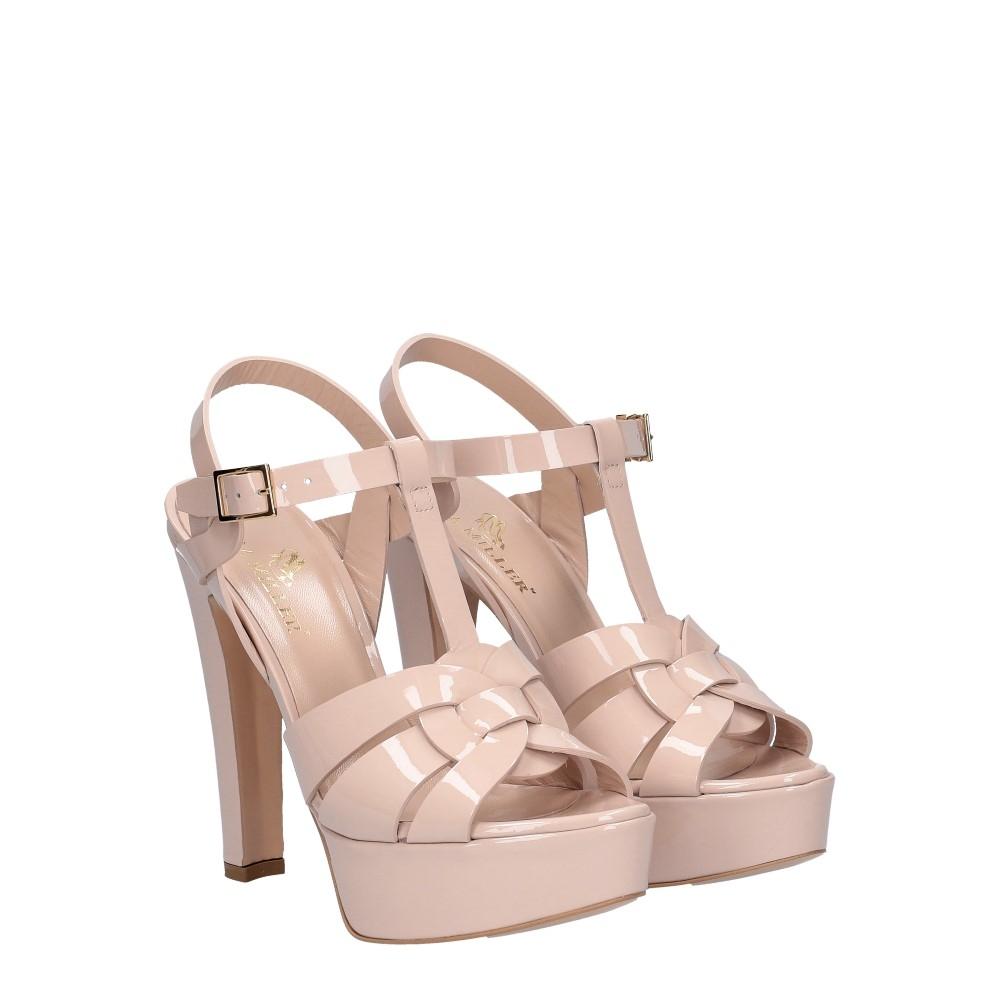 Vera Miller sandalo vernice rosa cipria