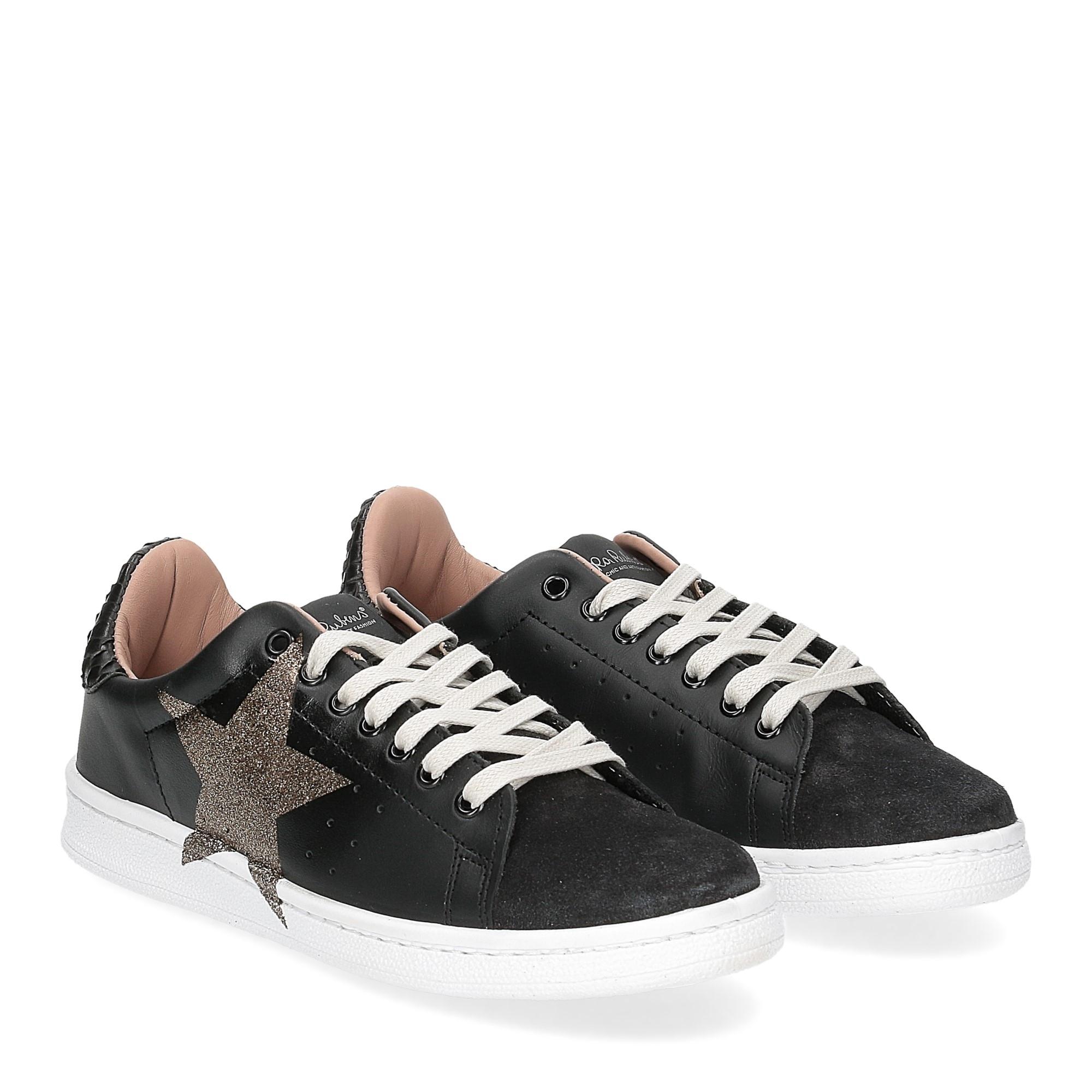 Nira Rubens daiquiri DAST160 sneaker nera stella boa black glitter