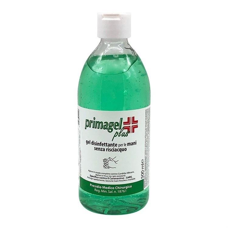 Gel disinfettante mani senza risciacquo Primagel Plus - 500 ml