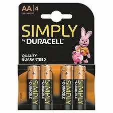 STILO DURACELL SIMPLY AA 4 PZ