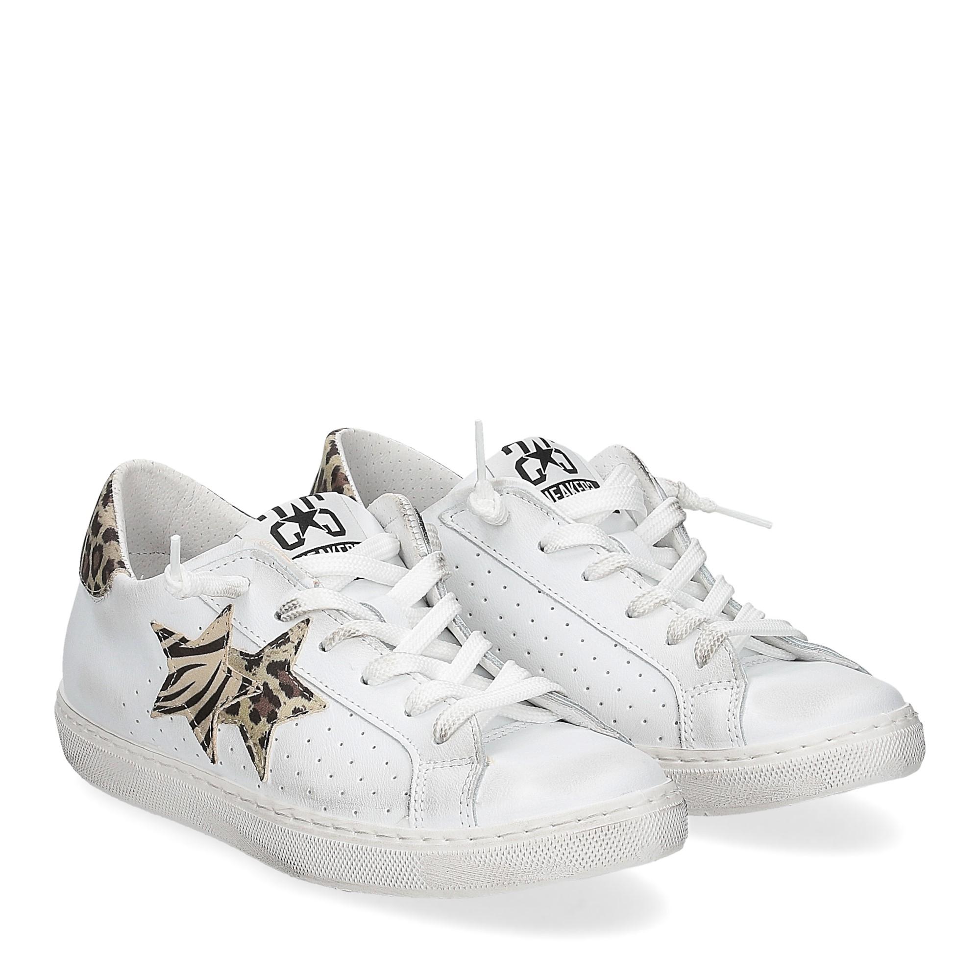 2Star 2622 sneaker low bianco maculato beige