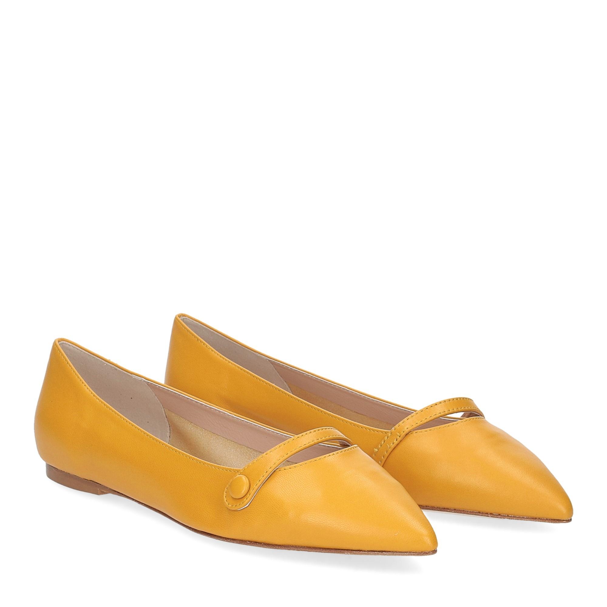 Micina ballerina A5891SF pelle gialla